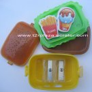 Eraser and Pencil Sharpener Hamburger Lunchbox -  ER110001 - Fries and Ice Cream