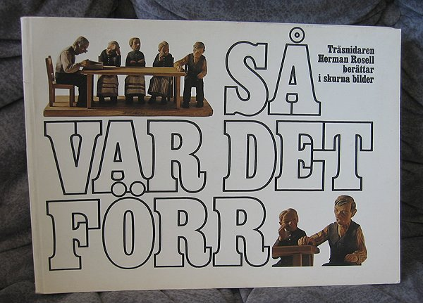 Woodcarver ROSELL -RARE book sculptured figures Swedish