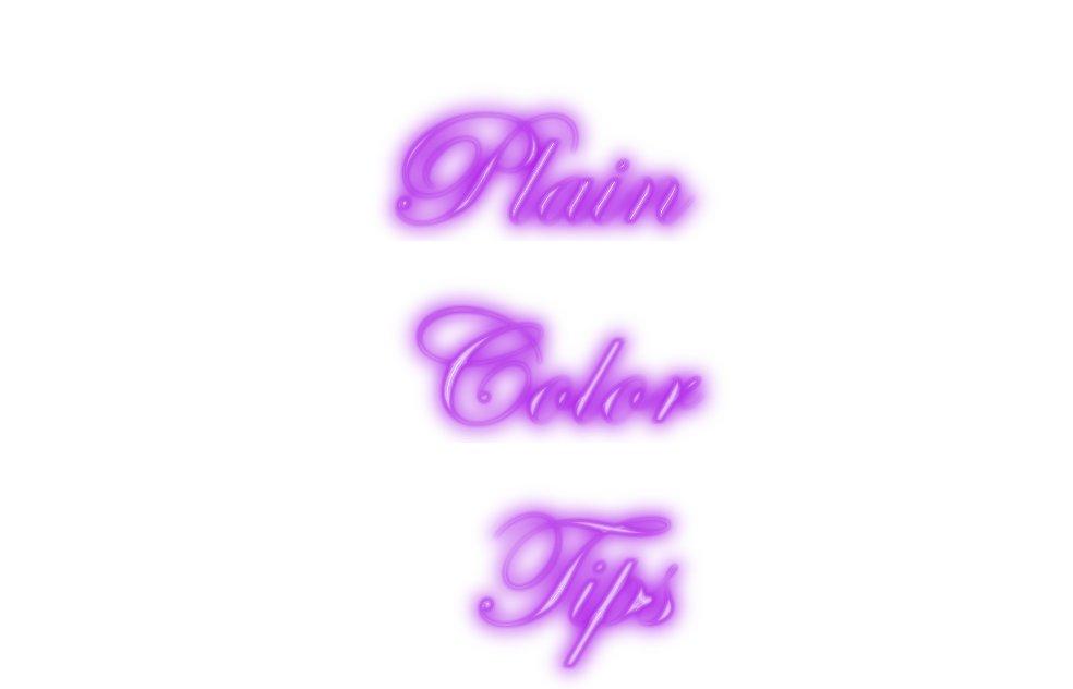 SALE! Plain Color Tips Not Shown