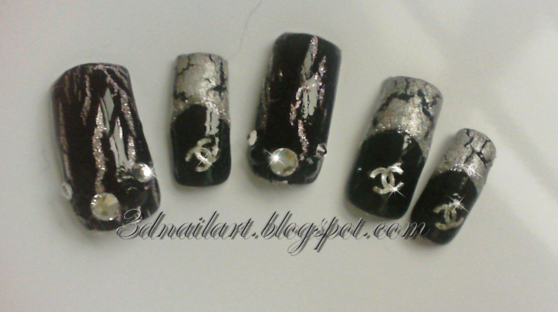 SALE! Silver & Black Chanel Crackle Set