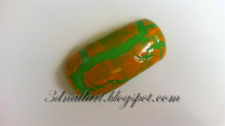 SALE! Green and Orange Crackle Set