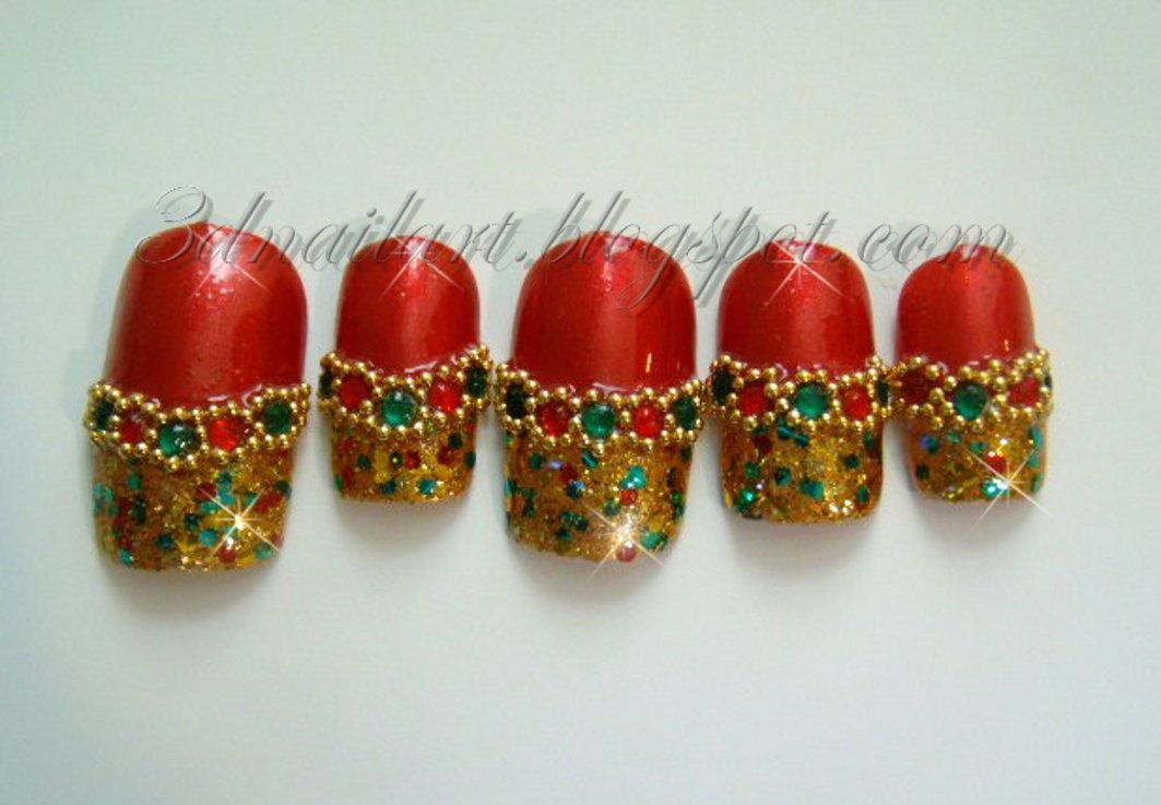 CLEARANCE! Red & Gold Christmas Bling