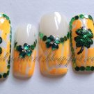 SALE! St. Patty's White & Orange Crackle