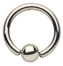 316L Stainless Steel Captive Bead Ring 14g 5/16""