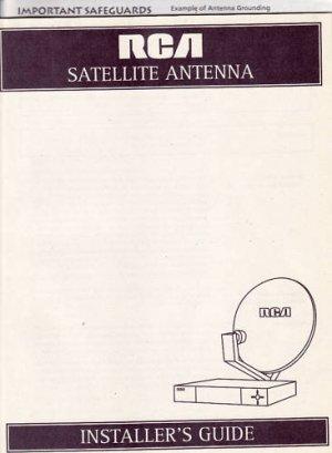 New RCA Satellite Antenna Installer's Manual Guide Book