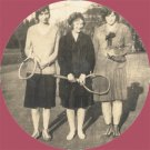 Vintage Photo 1920s SDSU Brookings WOMEN TENNIS PLAYERS
