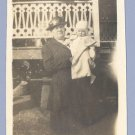 Vintage Photo 1910s/1920s WOMAN with BABY Infant FIX
