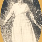 Vintage Photo PROVOCATIVE LOOK Girl & Haystack STRAW