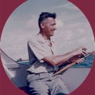 Vintage Photo 1958 FISHING on WOODEN BOAT Color