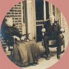 Vintage Photo 1800s TRIO on PORCH Rocking Chair