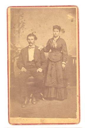 Antique PHOTO Cabinet Card COUPLE