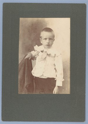 ANTIQUE Vintage PHOTO Boy Haunting Stare CABINET CARD