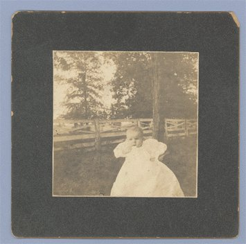 Antique Photo CABINET CARD Infant W B WAYS Baby
