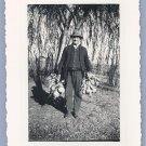 Vintage Photo MAN WITH TURNIPS in FEDORA HAT