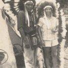 Vintage Photo NATIVE AMERICAN INDIAN & TOURIST