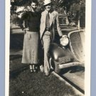 Vintage Photo COUPLE w/HUDSON TERRAPLANE Classic Car