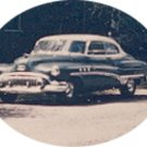 Vintage Photo CLASSIC CAR Buick Super Riviera 1951 BLUE