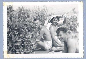 Vintage Photo SWIMSUIT Smoking Cigerette HAWAII Hauser