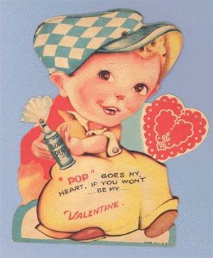 Vintage Valentine SODA POP Mechanical MOVING Card