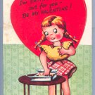 Vintage Valentine CANDY Eating My Heart Out A-MERI-CARD