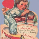 Vintage Valentine MODEL TRAIN Can't Be Switched 1930s