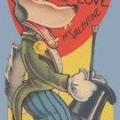 Vintage Valentine I'M HUNGRY AS A WOLF 1930s/1940s