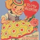 Vintage Valentine I'LL GO MODERN IF YOY'LL BE MINE 30s