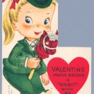 Vintage Valentine HOBBY HORSE You've Become a HABIT