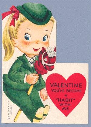 Vintage Valentine HOBBY HORSE You've Become a HABIT