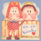 Vintage Valentine NIX on ANYONE BUT YOU Fold-out 1950
