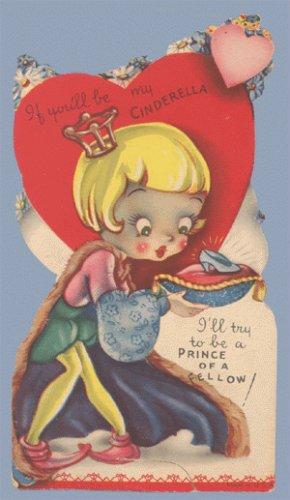 Vintage Valentine CINDERELLA Prince of a Fellow 1920s