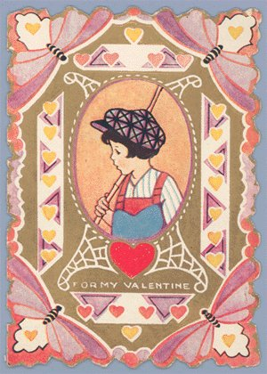Vintage Valentine WHITNEY MADE Deco BUTTERFLY