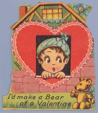 Vintage Valentine MAKE A BEAR Teddy Germany 1910s