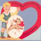 Vintage Valentine SHOW YOU TRICKS Dog HOOP Mechanical