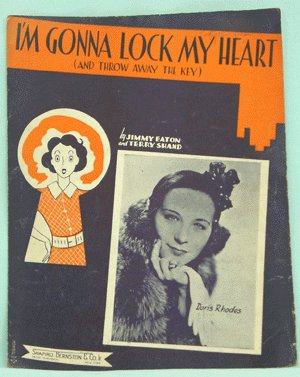 VINTAGE SHEET MUSIC 1938 DORIS RHODES I'm Gonna Lock My Heart Away