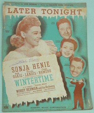 VINTAGE SHEET MUSIC 1943 WINTERTIME Sonja Henie