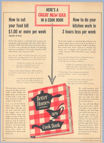 Vintage Advertising 1953 Ad BHG Cook Book COOKBOOK Better Homes