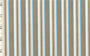 Vintage GIFT WRAP Wrapping Paper GOLD/TURQ STRIPES