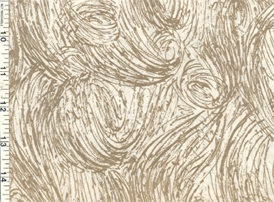 Vintage GIFT WRAP Wrapping Paper GOLD SWIRLS on WHITE