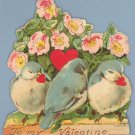 Vintage Valentine 1920s GERMANY Bird STAND-UP