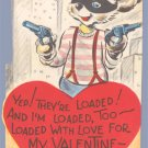 Vintage Valentine 1940s CITY Robber LOADED w/Love GUN
