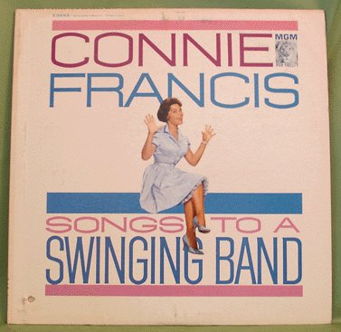 LOUNGE LP Connie Francis SONGS TO A SWINGING BAND