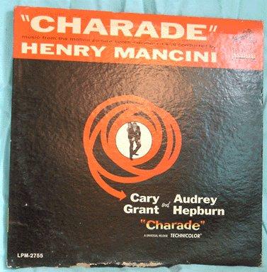 HENRY MANCINI LP Charade Soundtrack RARE LOUNGE