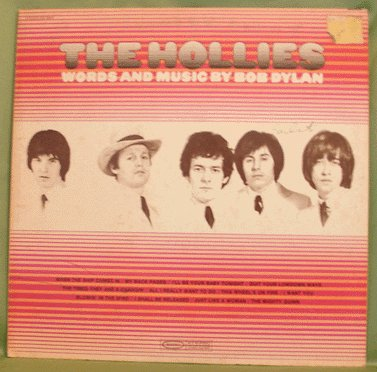 HOLLIES LP Words and Music of Bob Dylan 1969