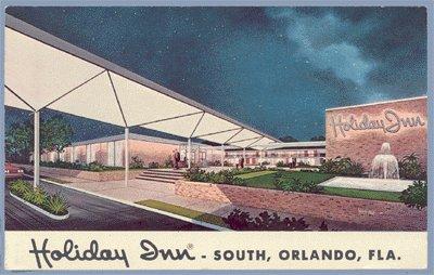 Vintage Postcard HOLIDAY INN Orlando Florida