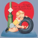 Vintage Valentine 1940s I'll Never Tire A-MERI-CARD
