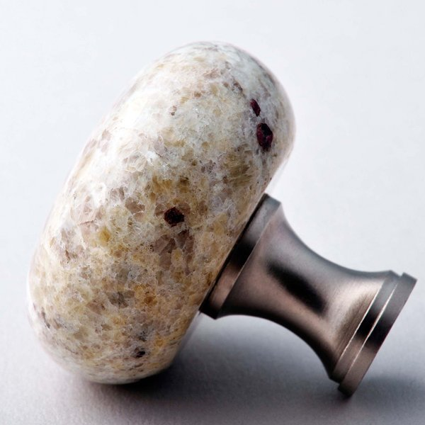 Kashmir White Granite Knob