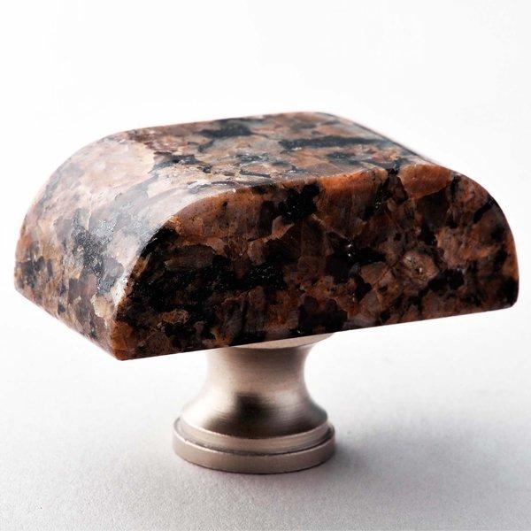 Tropical Brown Block Granite Knob