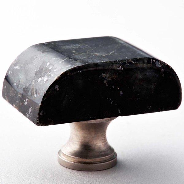 Emerald Pearl Block Granite Knob