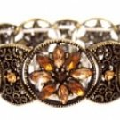 Vintage Filigree Bracelet - Topaz Austrian Crystal Women's jewelry